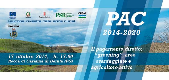 Invito PAC_Il pagamento diretto greening aree svantaggiate e agricoltore attivo